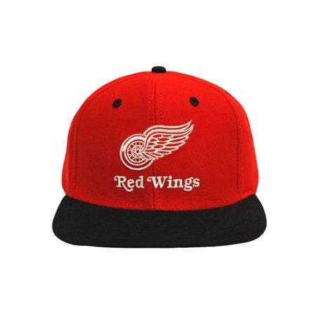 2 Tone NHL Detroit Red Wings Snapback Hat Cap - 2 Tone Red/Black