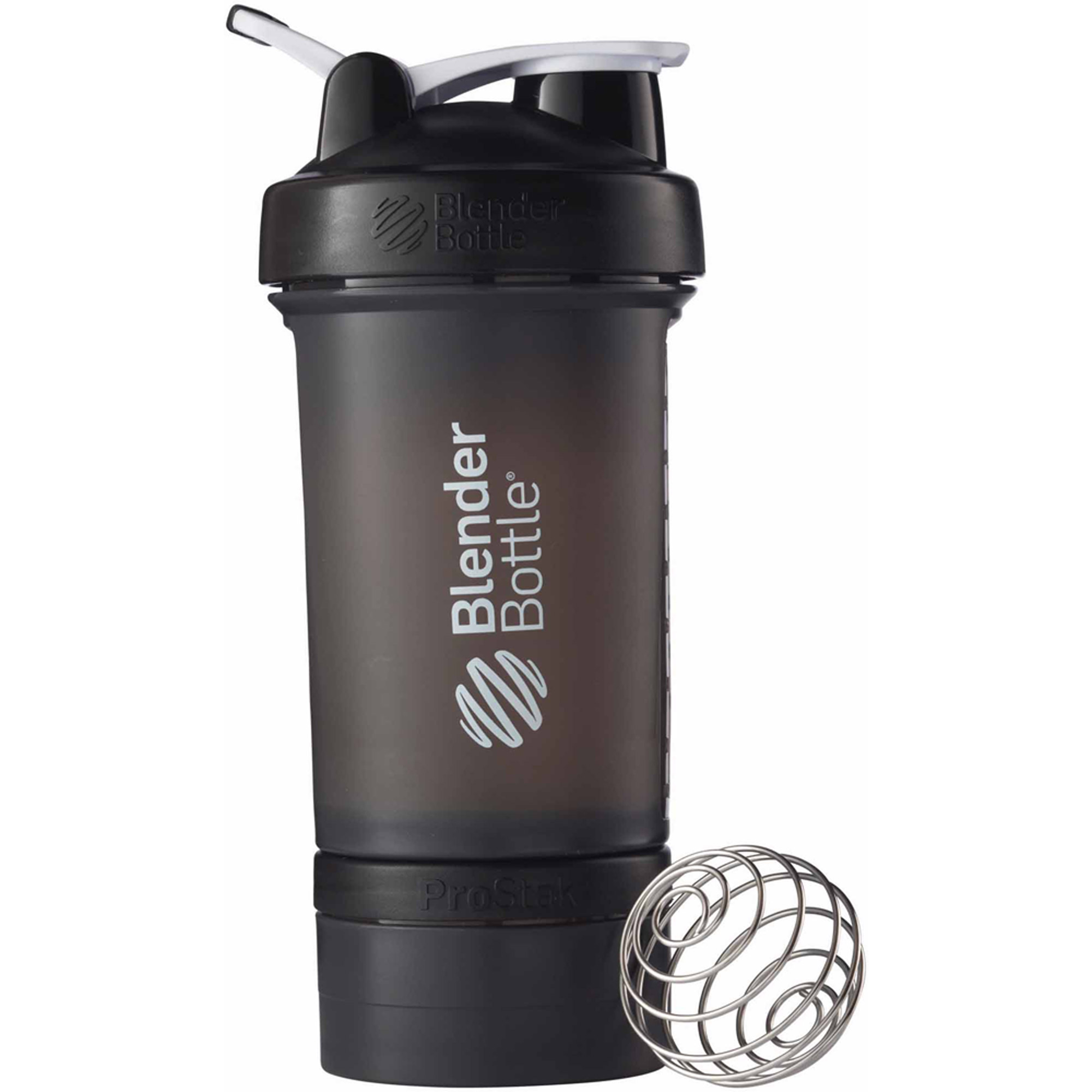 BlenderBottle 22-Ounce ProStak Bottle, Full Color Black