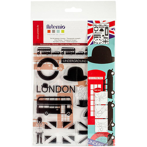 "Artemio Clear Stamps, 5.9"" x 8.7"", London Modern"