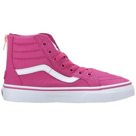 2b550615bb Vans - Vans Sk8-Hi Slim Zip Girls Lilac Rose Burn Sneakers - Walmart.com