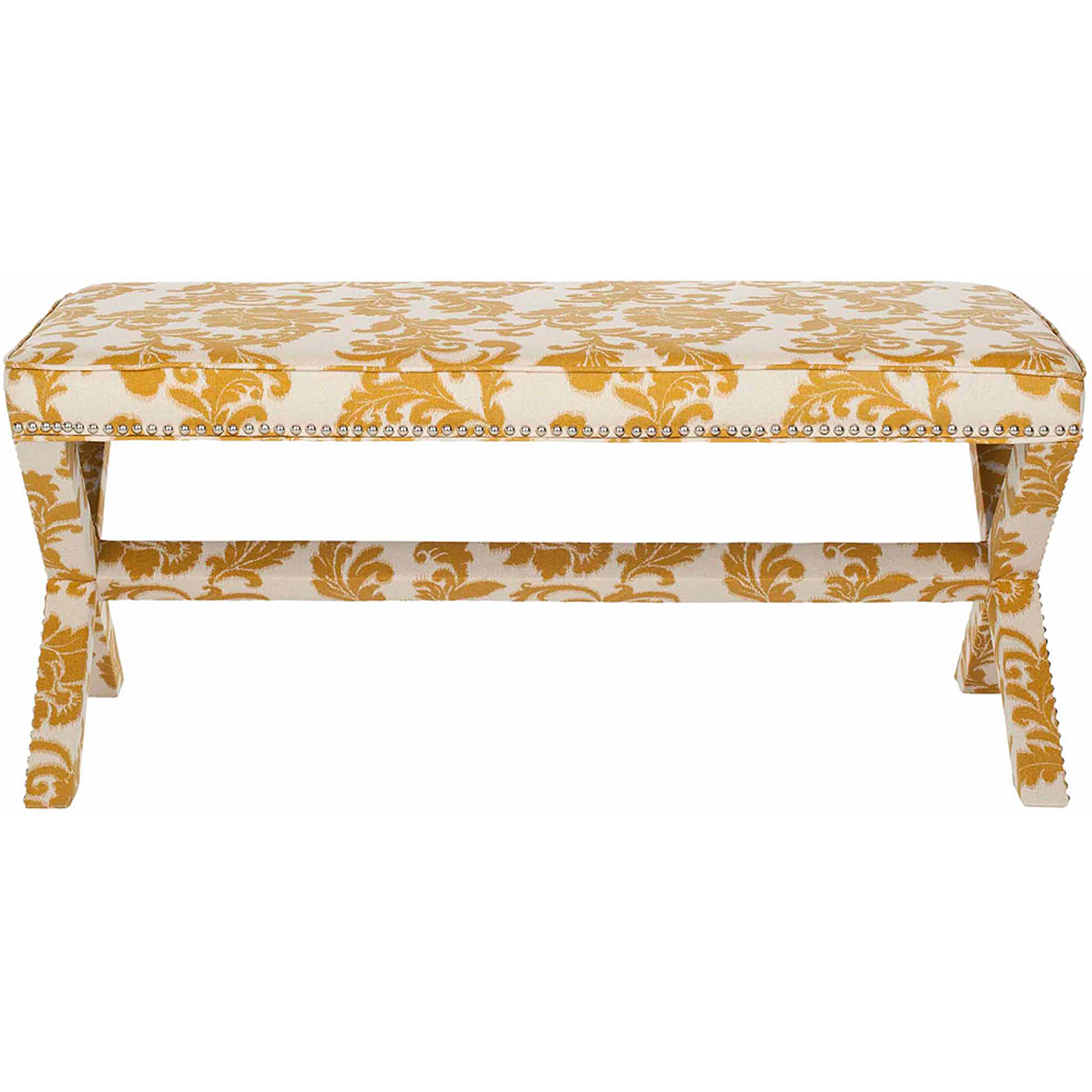 Safavieh Melanie Upholstered Extended Bench, Multiple Colors