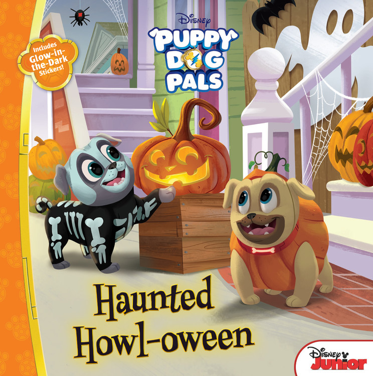 Puppy Dog Pals: Haunted Howl-Oween: With Glow-In-The-Dark Stickers! (Paperback)