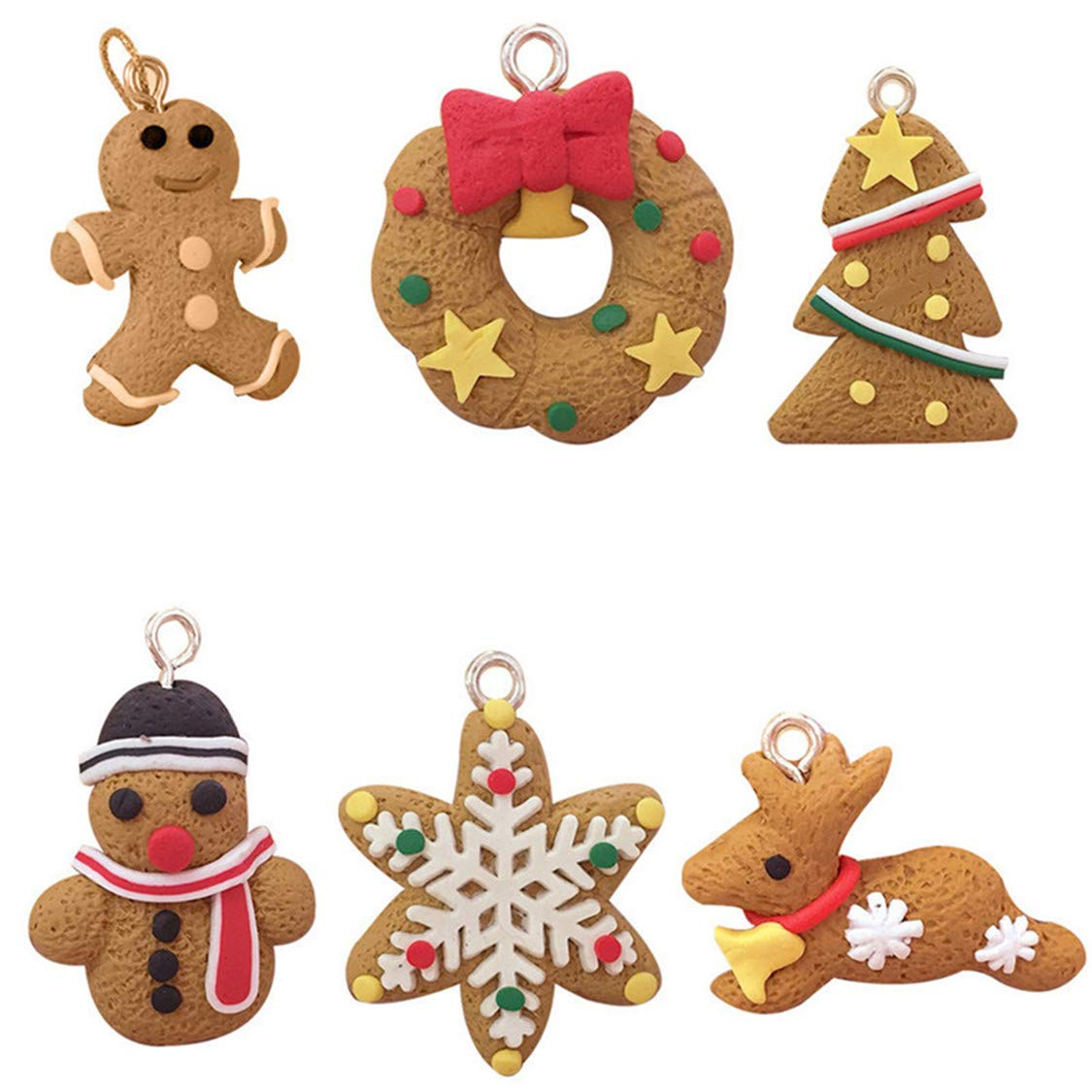 Gingerbread Christmas Ornaments Gingerbread Man Hanging Christmas Tree Ornaments For Holiday Kitchen Decor Christmas Tree Hanging Decorations Holiday Party Decor B Walmart Com Walmart Com
