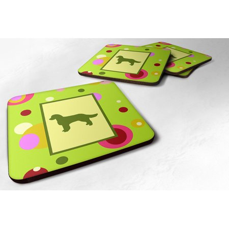 Set of 4 American Water Spaniel Foam Coasters