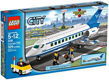 City Passenger Plane Set Lego 3181 by LEGO Systems, Inc.