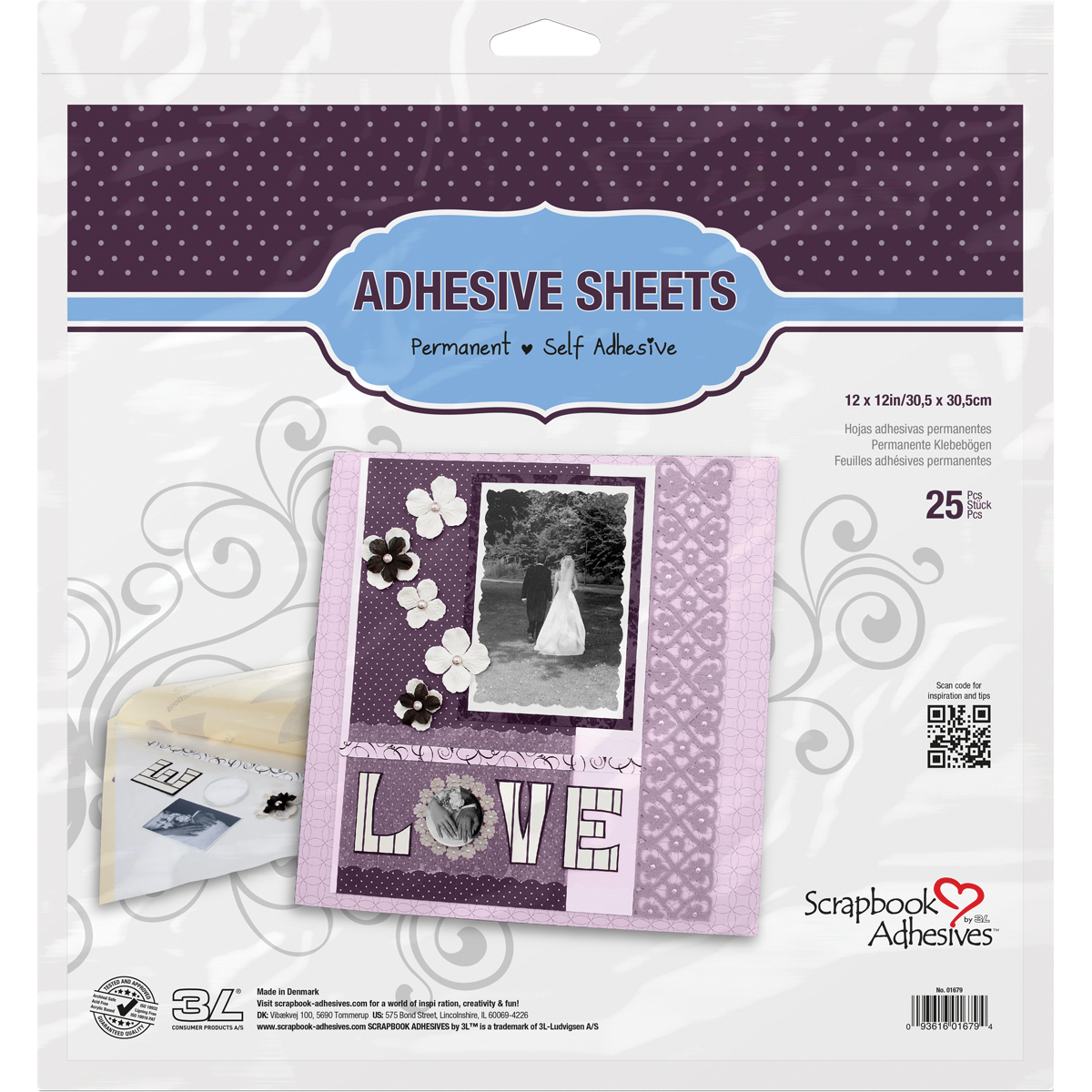 Scrapbook Adhesives by 3L Adhesives Sheets 12x12in