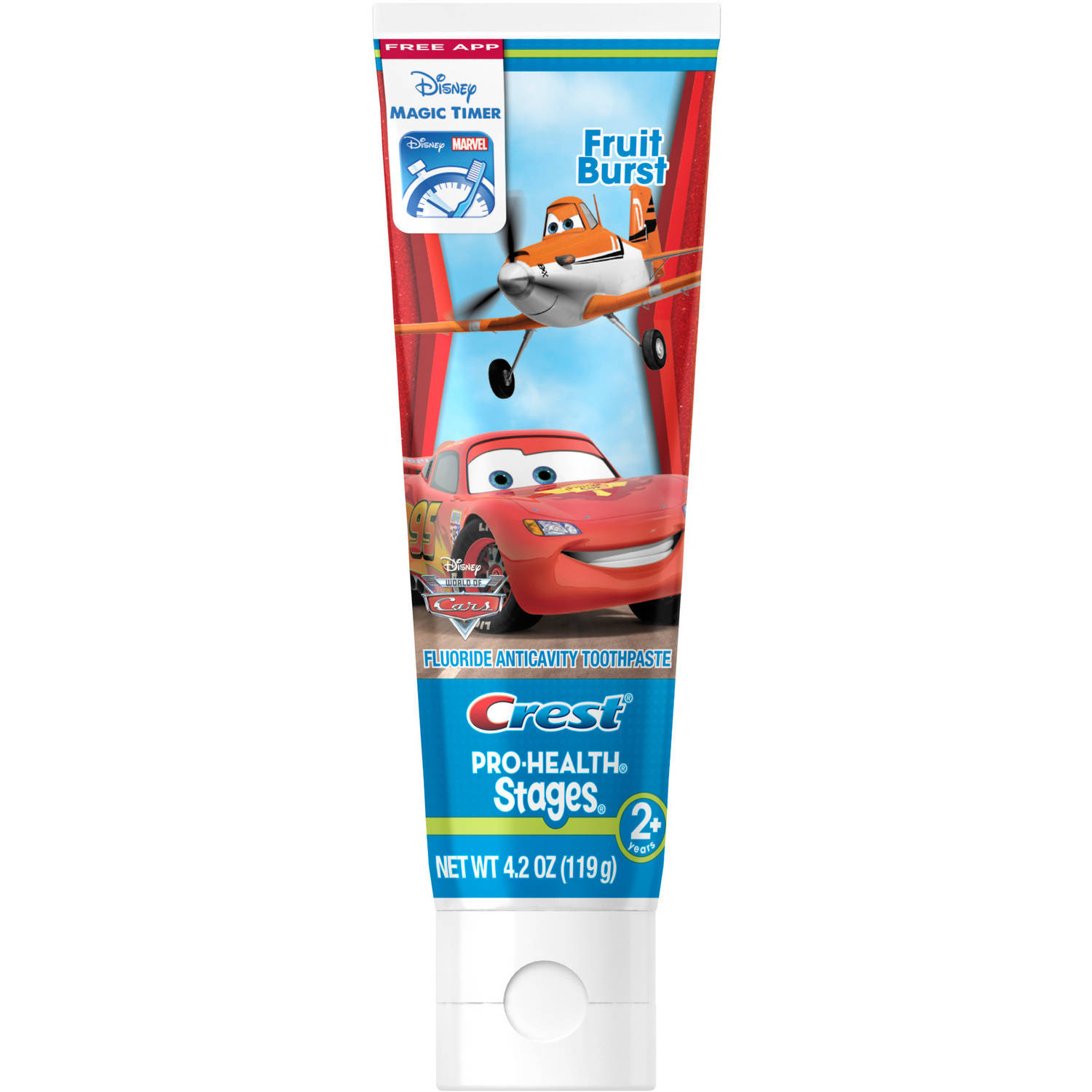 Crest Pro-Health Stages Kids Toothpaste featuring Disney Pixar Cars and Planes with Disney MagicTimer App by Oral-B, 4.2 oz