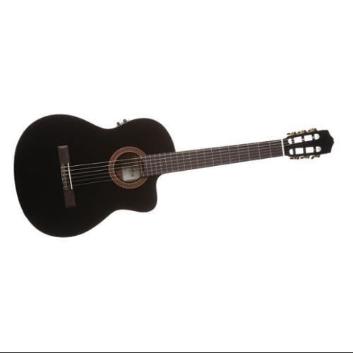 Cordoba C5-CE Nylon String Classical Acoustic-Electric Guitar (Black)