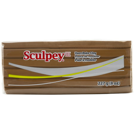 Sculpey III Polymer Clay 8ozHazelnut