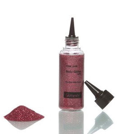 Glitter Tattoo Rose Pink Body Glitter Refill, By Glimmer Body Art Ship from (Glimmer Rose)