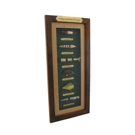 Fishing Lures of the 20th Century Wood Shadow Box Wall Hanging