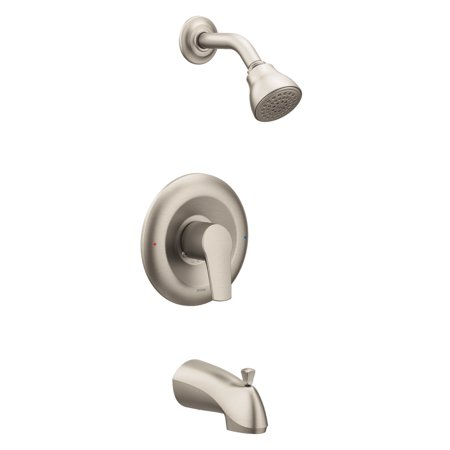Moen T2803EPBN Method Bath and Shower Faucet with Posi-Temp Pressure Balanced Trim, Brushed (Moen Chateau Shower Trim Kit Brushed Nickel)