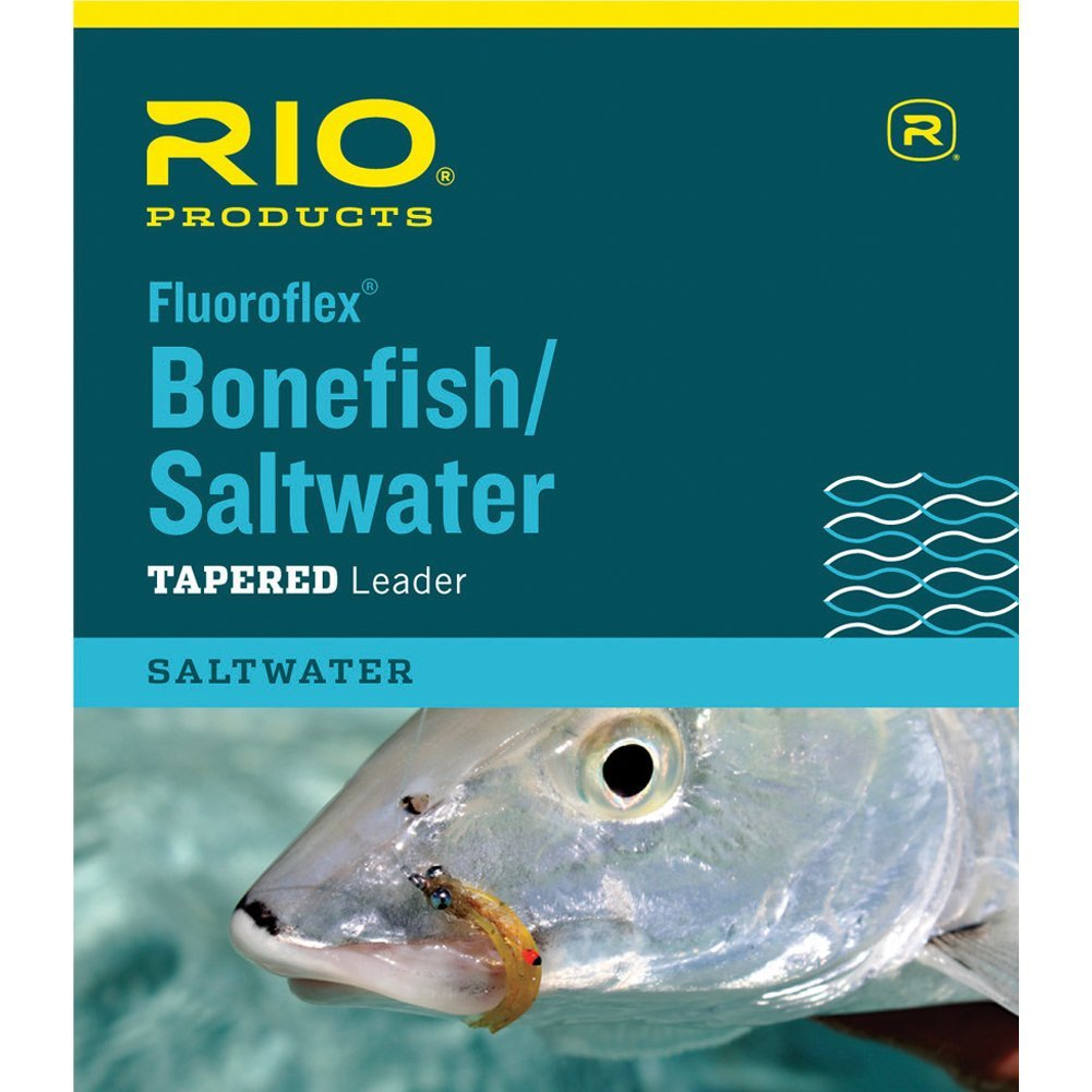 : Saltwater Fluoroflex Leader, 9ft 10lb, Medium stiff By Rio