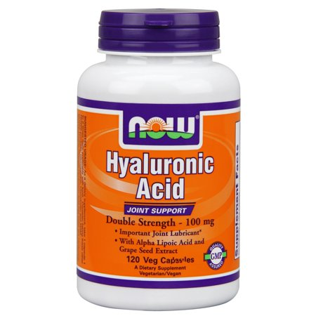 NOW Foods Acide Hyaluronique 100Mg Plus 120 2X Capsules végétales