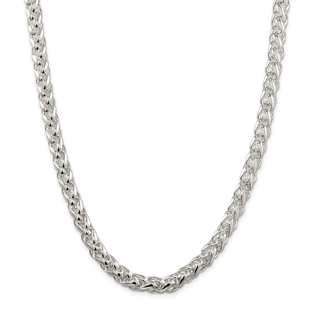 Sterling 20in Silver 8mm Round Spiga Necklace Chain