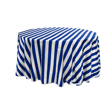 Your Chair Covers 120 Inch Round Satin Tablecloth Royal Blue White