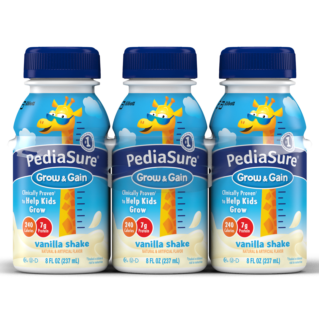 PediaSure Nutrition Drink, Vanilla Shake, 8 fl oz (4-6 Packs)