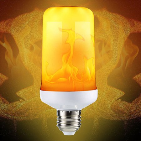 LED Flame Effect Simulated Fire Light Bulb E27 Flickering Lamp Xmas - Halloween Flickering Light Bulbs