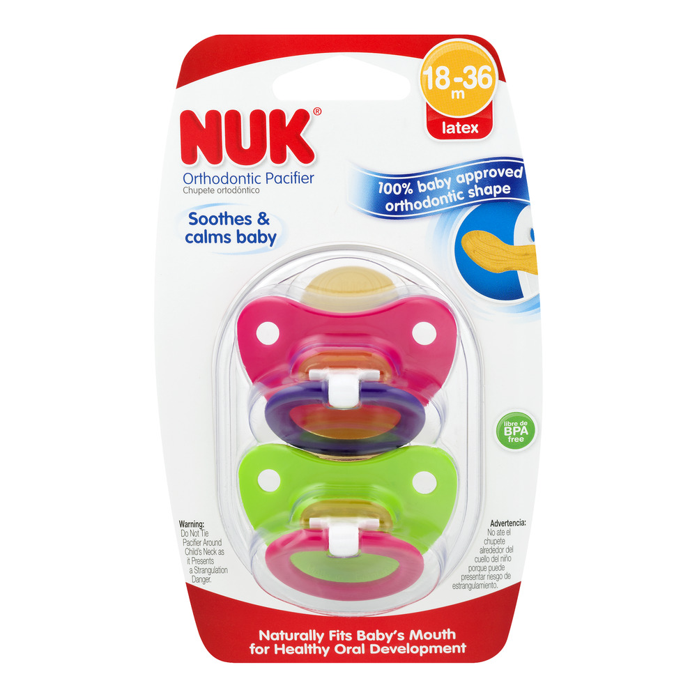 Nuk Orthodontic Pacifier 18-36m - 2 CT
