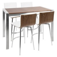 LumiSource Mason 5 Piece Counter Table Set