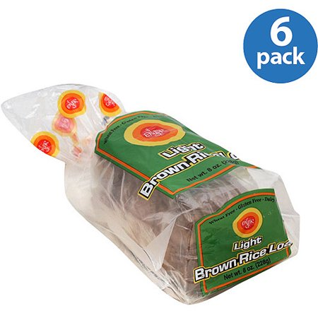 Gluten Free Hamburger Rolls (Ener-G Light Brown Rice Loaf Bread, 8 oz (Pack of 6))
