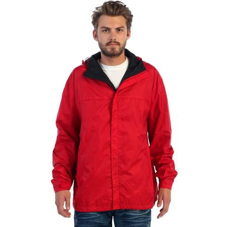 Giobeti Men's Waterproof Rain Jacket (Blue 2 Coat)