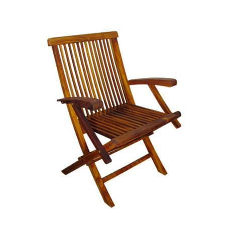 5 Piece Oval Deluxe Nyatoh Wood and Black Sunbrella Patio Furniture Set 7.5'