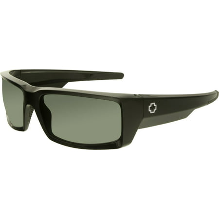 Spy Men's General 673118038863 Black Rectangle Sunglasses