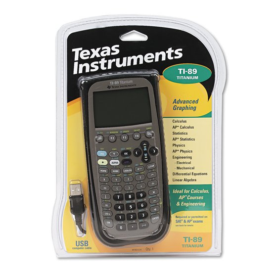 Nye TI-89 Titanium Graphing Calculator, Black - Walmart.com BD-87