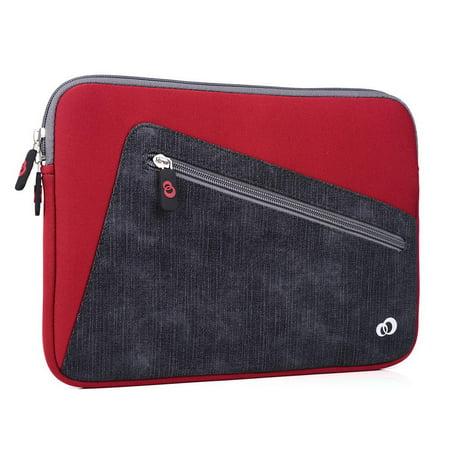 KroO 11-Inch Neoprene Tablet, Laptop, Hybrid, Chromebooks, Convertible Sleeve with Front Zipper Pocket (Convertible Laptop Case)