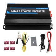 6000 Power Inverter DC to AC Car Inverter 12000W Peak Power Auto Power Inverter USB Port AC Socket Car Power Inverter Car Plug Converter Pure Sine Inverter with Cooling Fan
