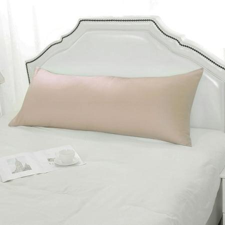 Soft Silky-Soft Pillow Cover 1800 Microfiber Full Long Pillowcases Khaki 20