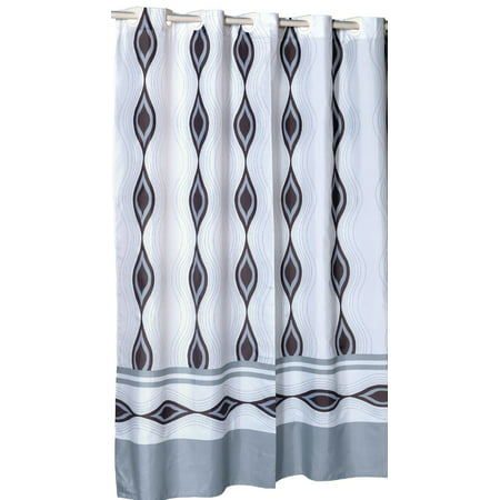 Royal Bath Ez On Fabric Shower Curtain With Built In Hooks Stall Size 54 Wide X 78 Long Pattern Name Harlequin