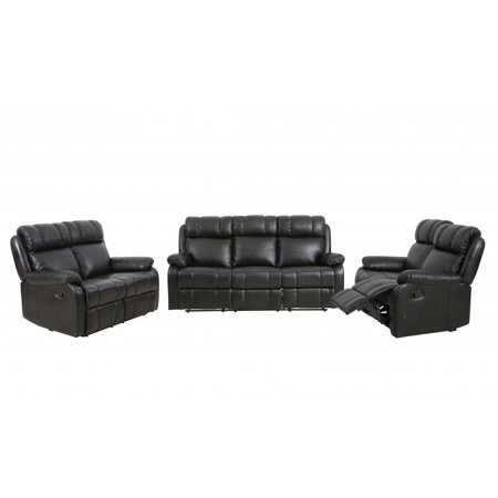 Loveseat Chaise Reclining Couch Recliner Sofa Chair Leather Accent Set