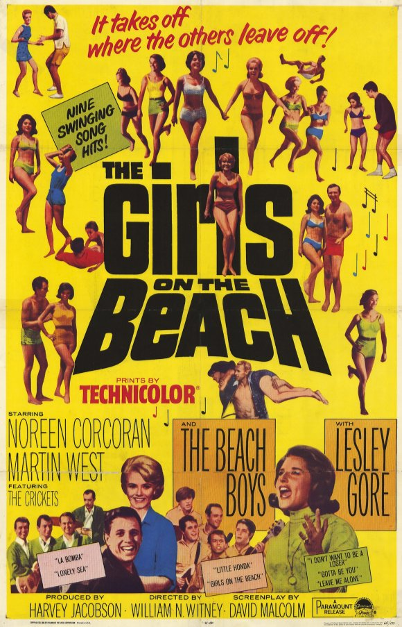 The Girls On the Beach (1965) 11x17 Movie Poster by Pop Culture Graphics