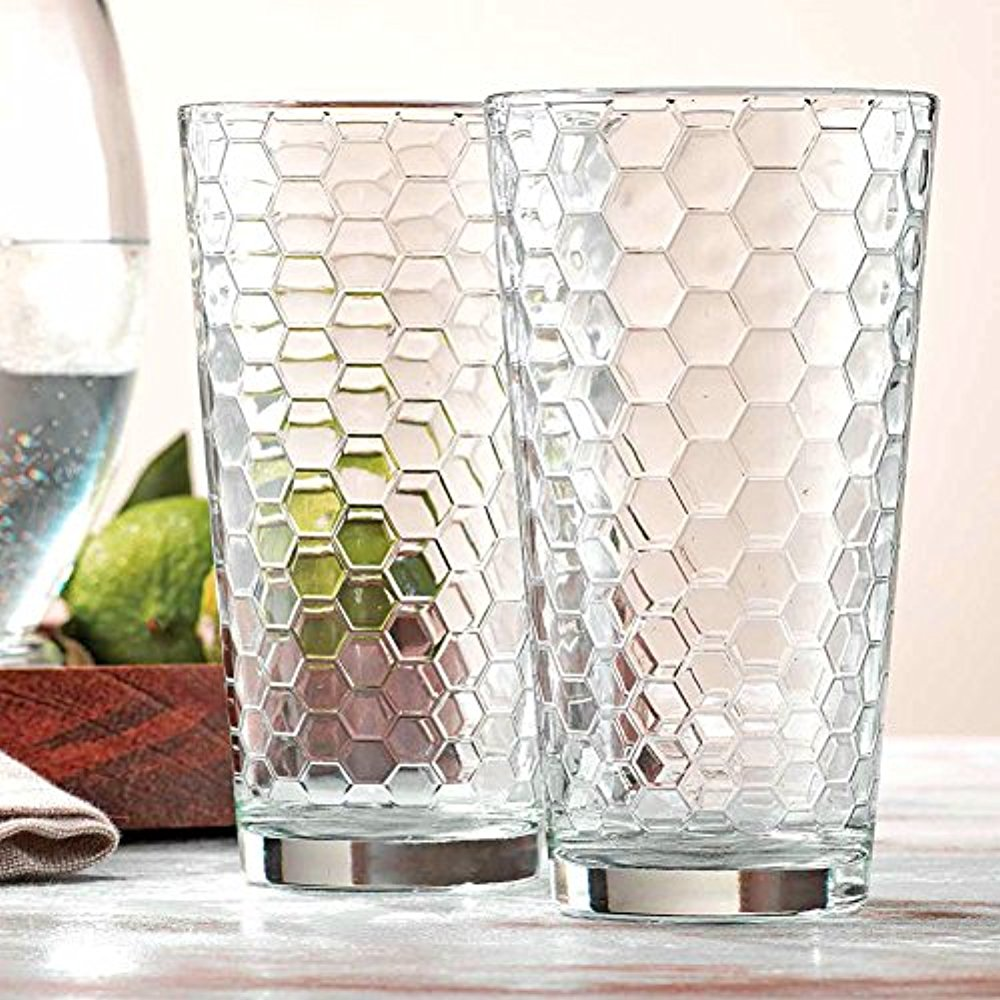 Palais Glassware Ruche Collection; Glassware Set (Set of 10 17 Oz Highballs, Clear) by Palais Glassware