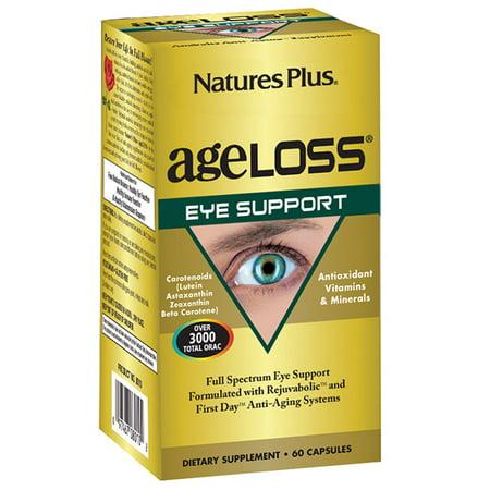 Natures Plus. AgeLoss Soutien des yeux Capsules 60 comprimés. Sans gluten. Végétarien