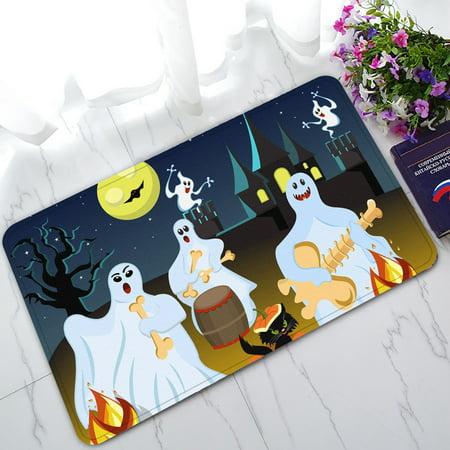 YKCG Halloween Party Fantasy Ghost Moon Doormat Indoor/Outdoor/Bathroom Doormat 30x18 inches (Welcome To Halloween Party Music)