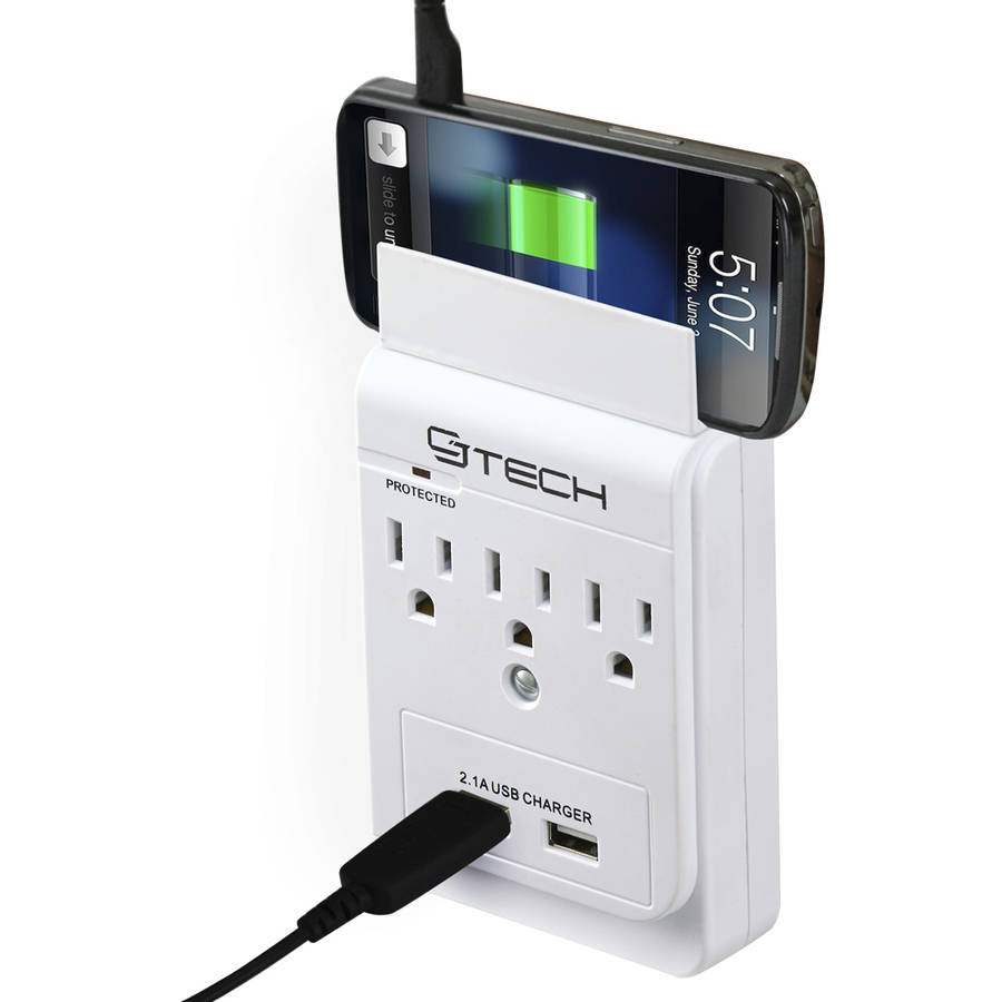 CJ Tech 3-Outlet USB Wall Tap