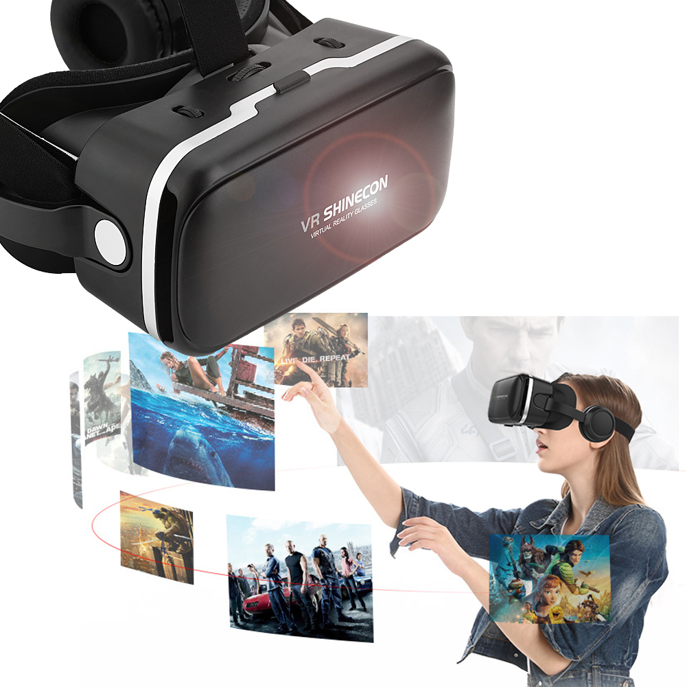 VR Headset,3D VR Virtual Reality Headset with Adjustable Lenses For 3D Movies and Games,Comfortable & Immersive Experience VR Goggles for IOS and Android Device