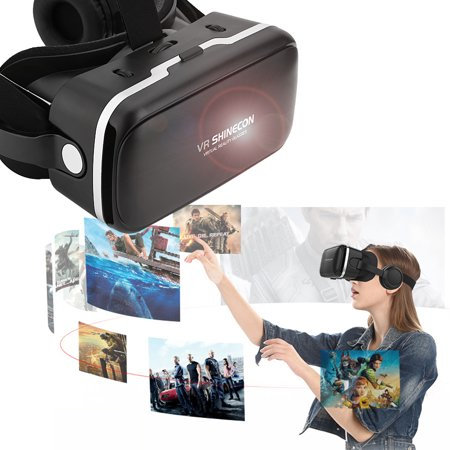 Dilwe VR Headset, 3d Glasses Virtual Reality Headset for VR Games & 3D Movies, Eye Care System for iPhone and Android