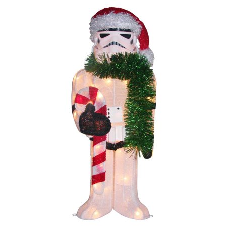 50 light star wars storm trooper tinsel lawn decor