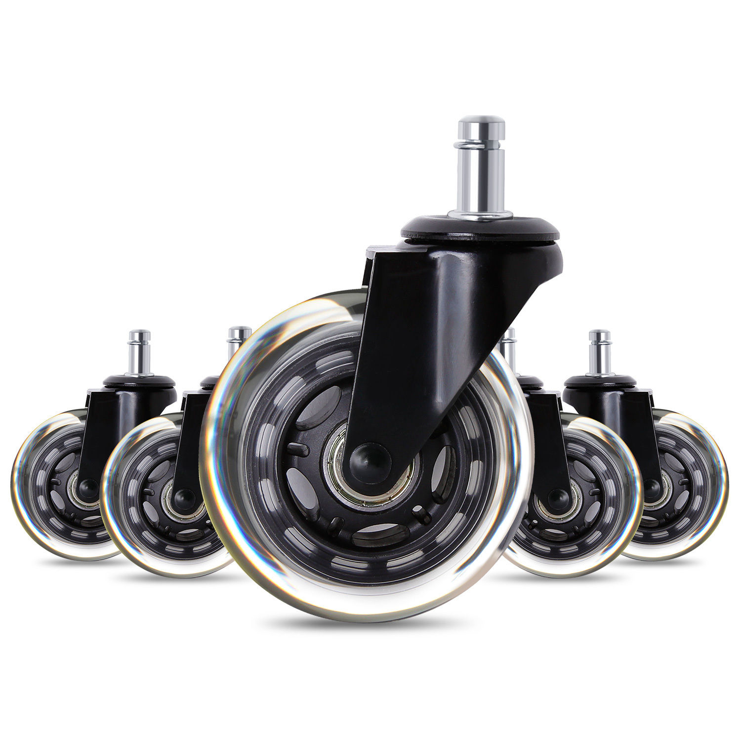 Office Chair Caster Wheels Heavy Duty Safe For All Floors