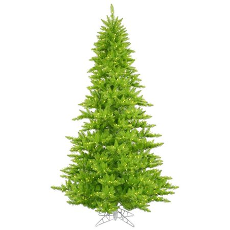 Lime Fir Dura-Lit Lime Christmas Tree with Lime LED Lights, 4.5 ft. x 34 in. ()