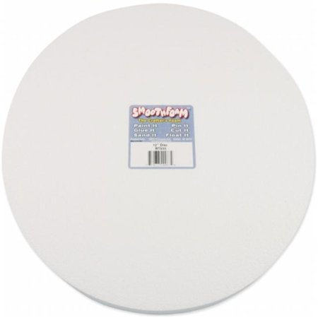 438677 Smooth Foam Disc 12 in. x 1 in. - Smoothie Foam