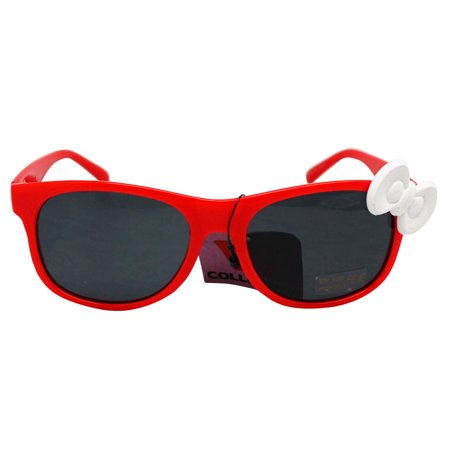 Red Frame Tinted Lens UV 400 Protection Glasses With White Bow ()