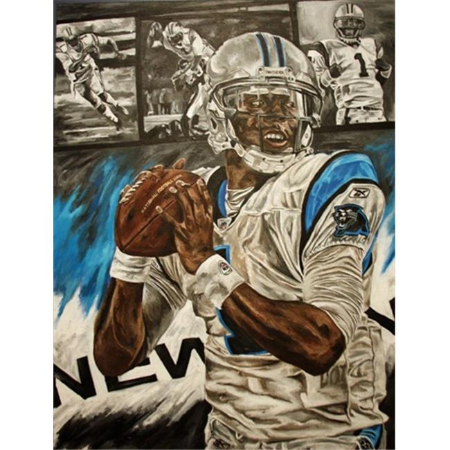 Deacon Jones Foundation DC-02R Double Threat Art Print, by Dave Courson - Rolled