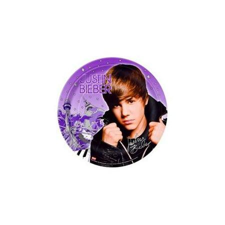 Justin Bieber Large Paper Plates (8ct) - Justin Bieber Fan Halloween Costumes