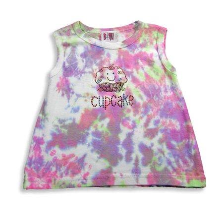 Baby Steps Tie Dye (B Nu - Baby Girls Sleeveless Top lavender tie dye / 12)