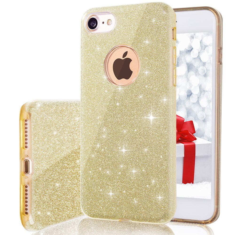 Apple IPhone 8 / IPhone 7 Full Body Hybrid Sparkle Glitter TPU Case Cover